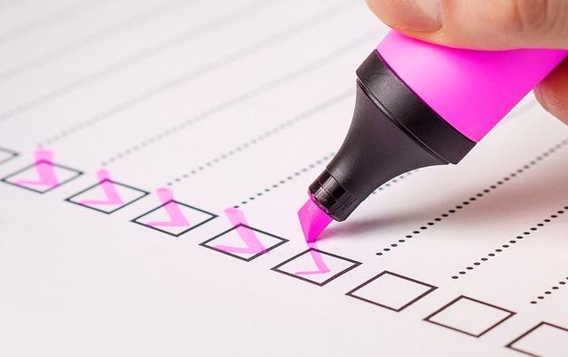 Probate application checklist
